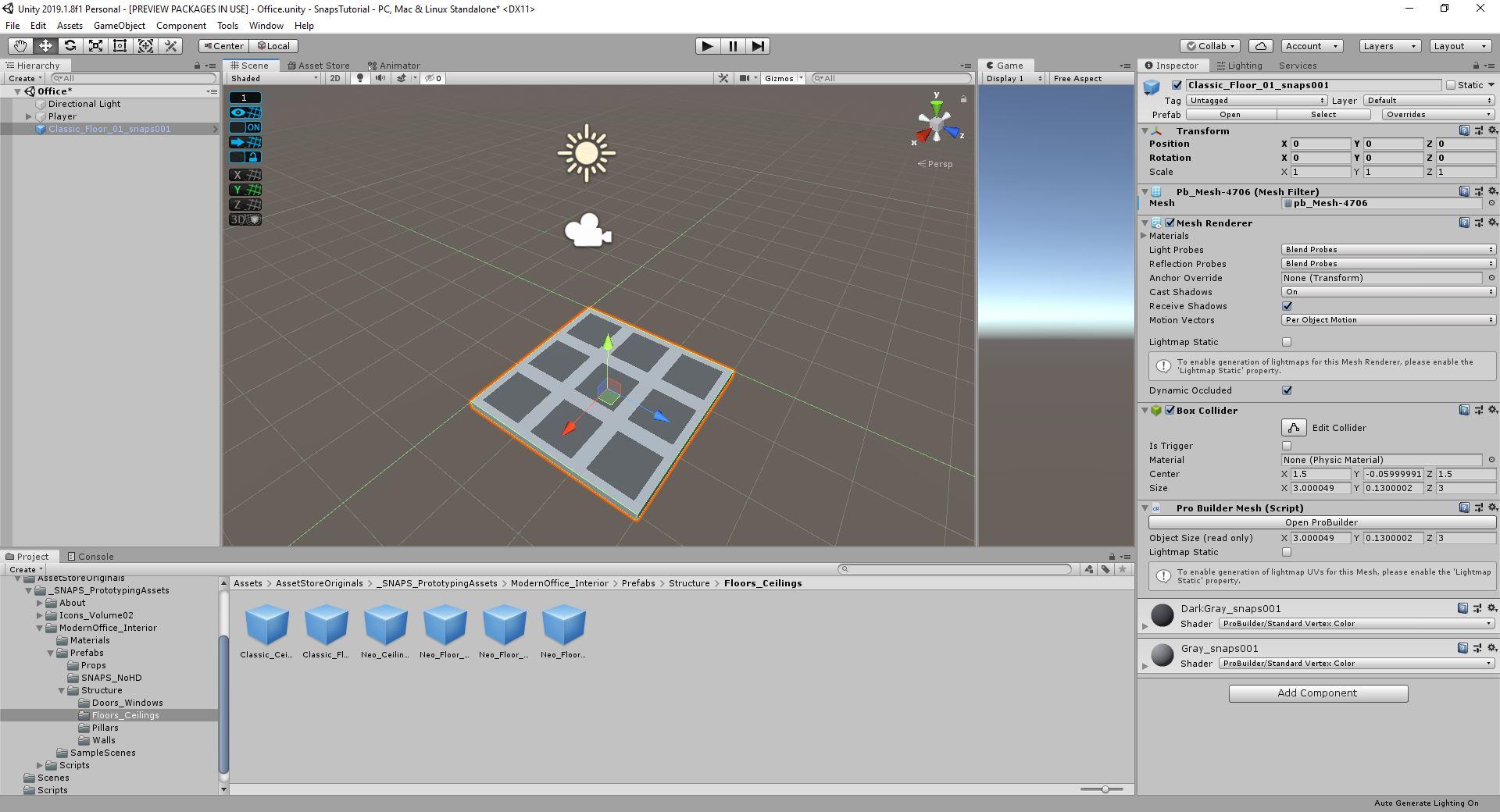 snaps unity tutorial