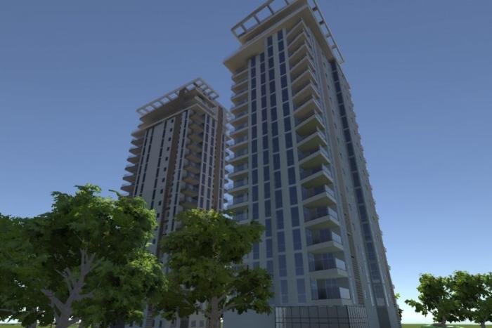 AR skyscraper visualization