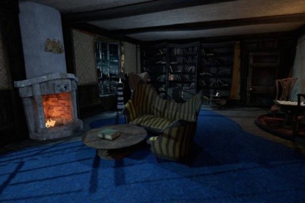 VR escape room dark