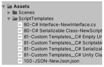 folder of assets