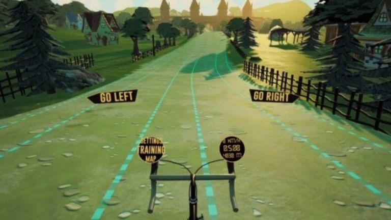 VR fitness bike