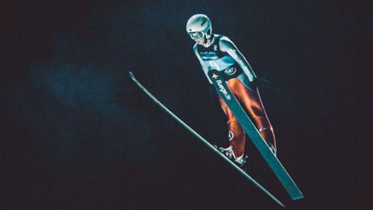 VR ski jump portfolio example