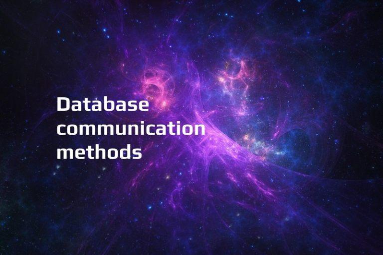 database communication methods title g