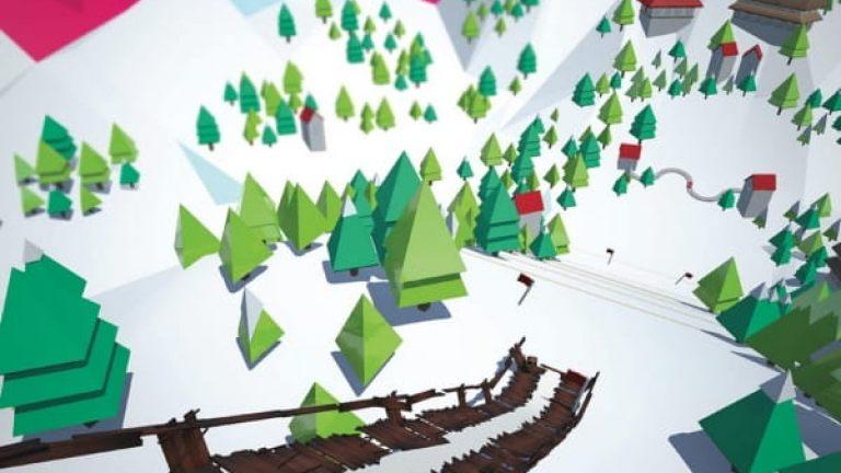 VR ski jump game 2