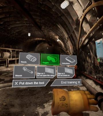 VR mine training hard skills
